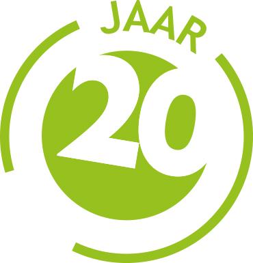 Afbeeldingsresultaat voor logo 20 jaar